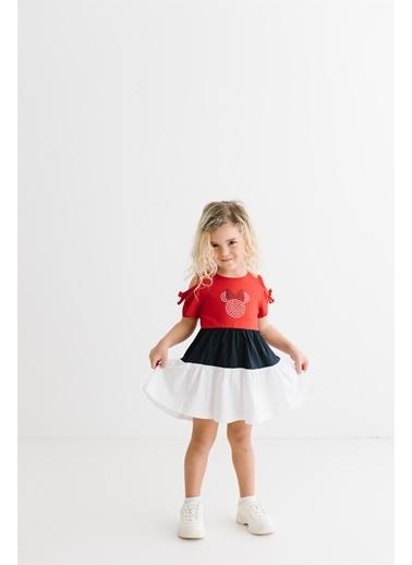 Minnie Mouse Lisanslı Lacoste Elbise 17372 Kırmızı